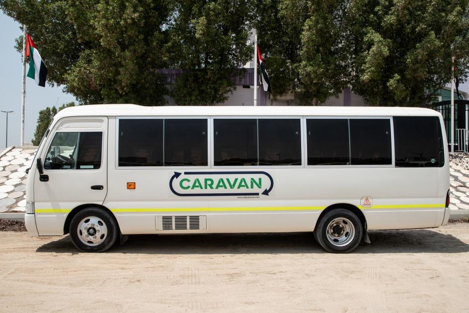 Caravan Expands Ground Breaking Carlift Bus Services In Dubai Sharjah Ajman Across Uae